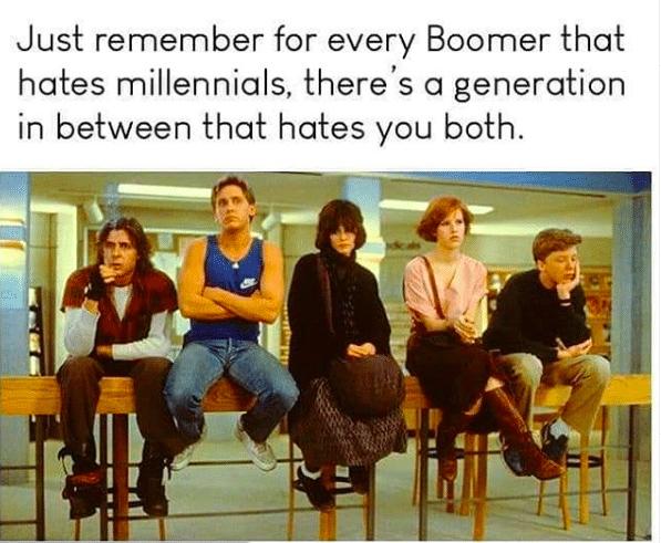 различните поколения