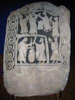 Викингски рог за пиене - рисунка върху камък