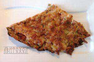Пица с блат от тиквички и шунка