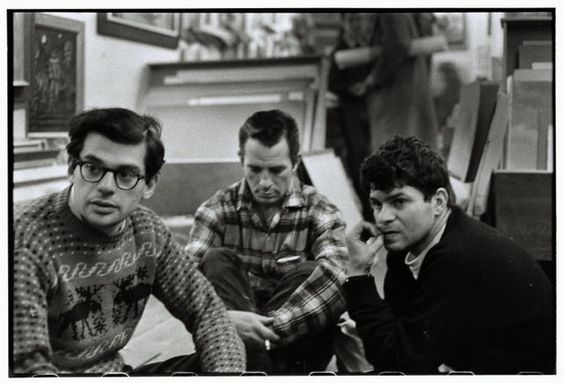 Джак Керуак заедно с Allen Ginsberg, Jack Kerouac, and Gregory Corso, Greenwich Village, 1957