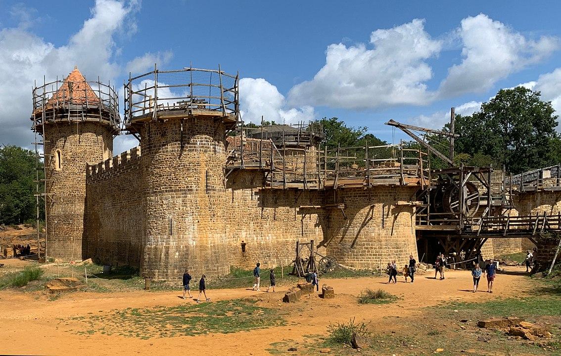 Замъкът Геделон в състоянието си от 2019 г.
