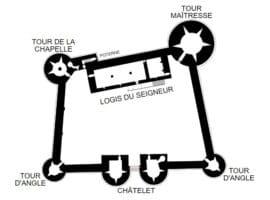 Замъкът Геделон - план