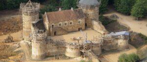 Замъкът Геделон отгоре